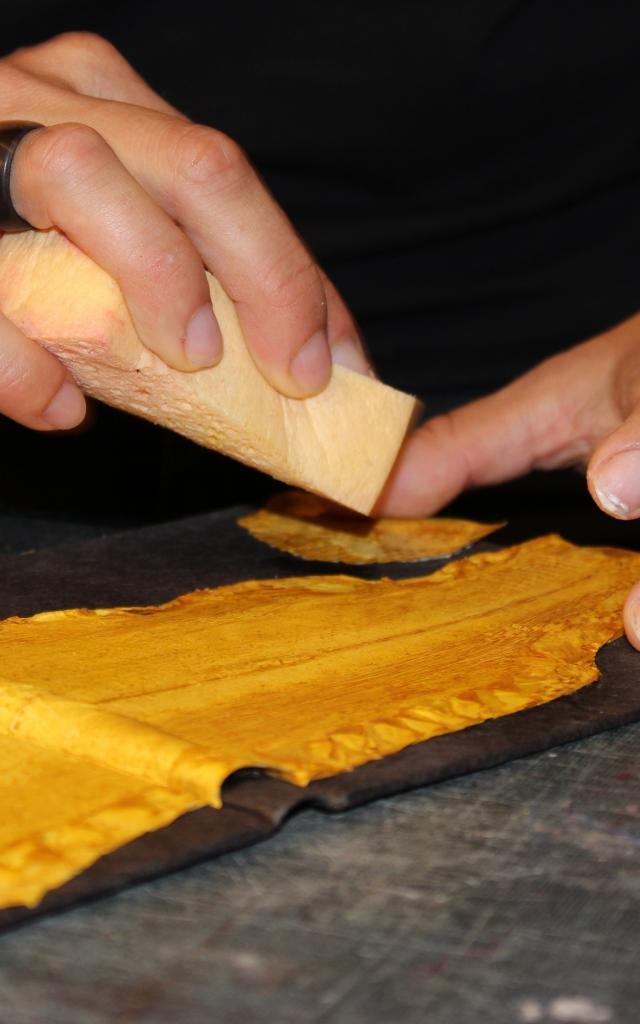 Reliure d'art couverture de livre en cuir de carpe - Atelier In Quarto