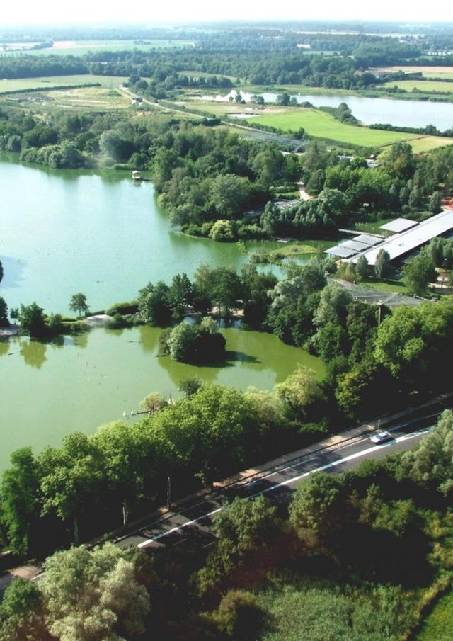 Vue du ciel - Parc des Oiseaux et réserve départementale
