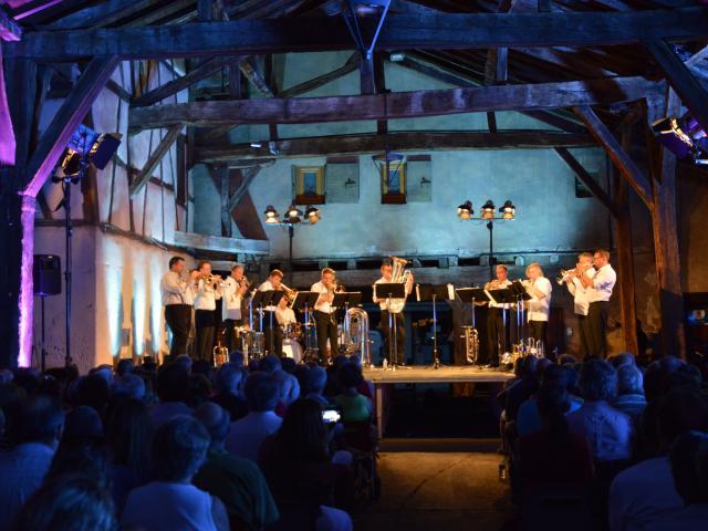 Concert German Brass sous les Halles de Chatillon sur Chalaronne