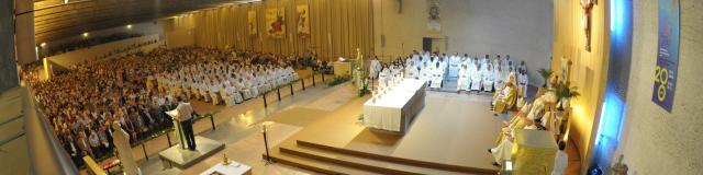 Ceremonie du 4 aout à Ars - Eglise Notre Dame de la Misericorde