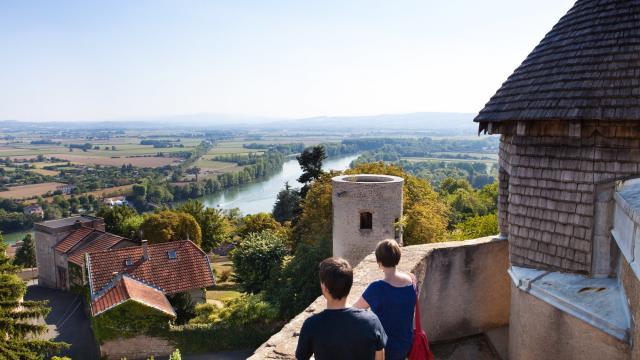 Vue depuis Le Donjon du Château Fort à Trévoux