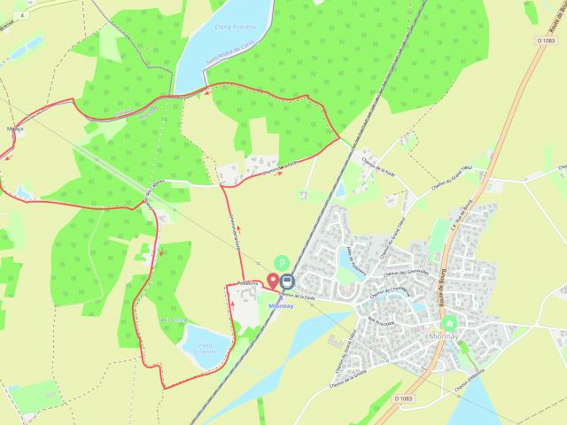 Circuit de randonnée près de Lyon Mionnay