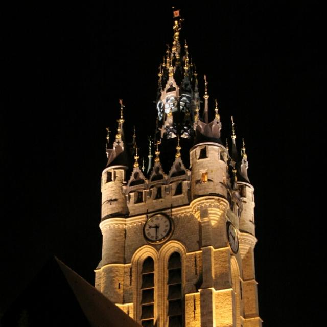 Beffroi Carillon Nuit Moyen Age Douai Douaisis Nord France (c) Ad Langlet