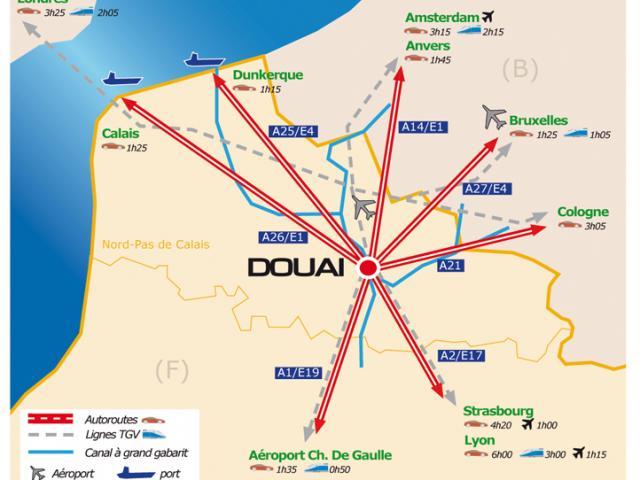 Plan- Douai -Douaisis Nord France-©ville-douai