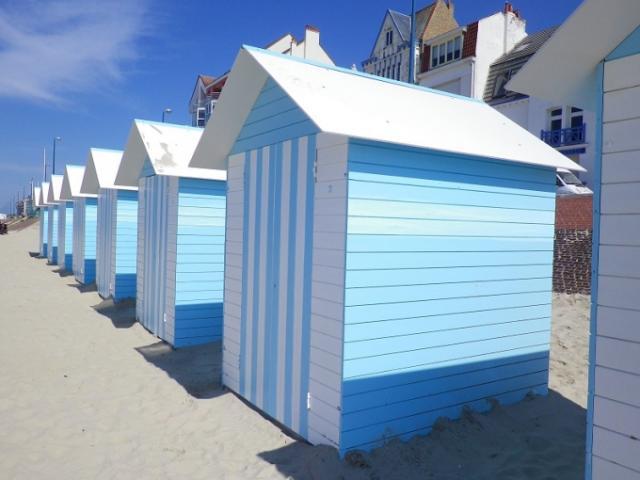 Les cabines de plage de Bray-Dunes