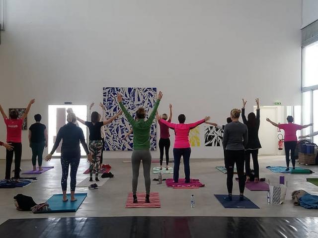 Séance de Yoga au FRAC