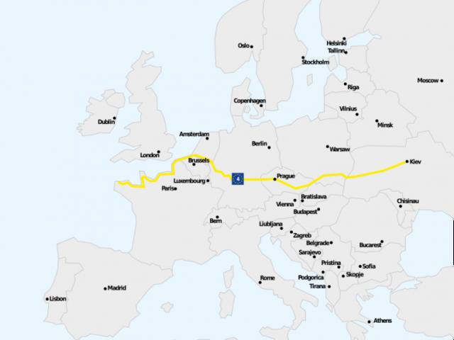 Carte Eurovelo 4
