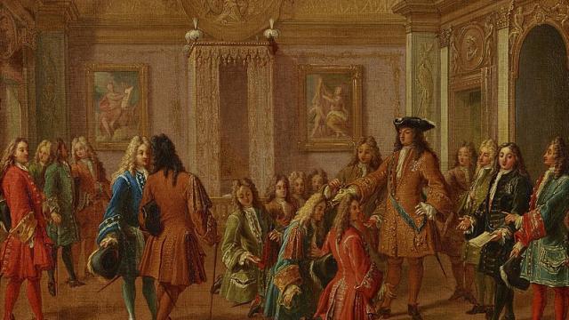 F. Marot, La Première Remise Des Décorations Par Le Roi En 1693, 1710, Collections Du Château De Versailles