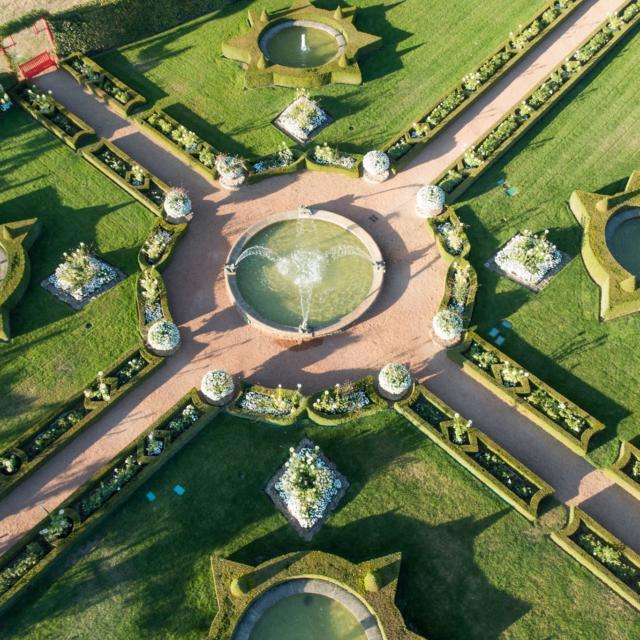 Eyrignac le Jardin Blanc vue Aérienne