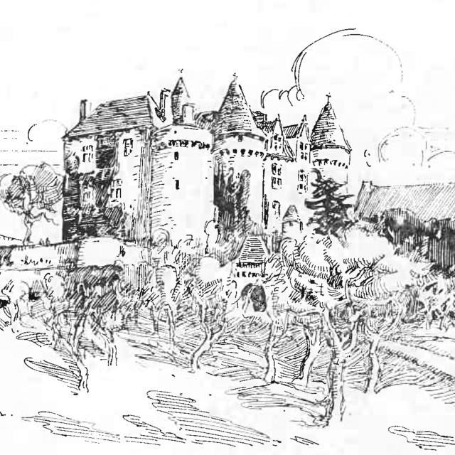 Lithographie du Château de Fénelon
