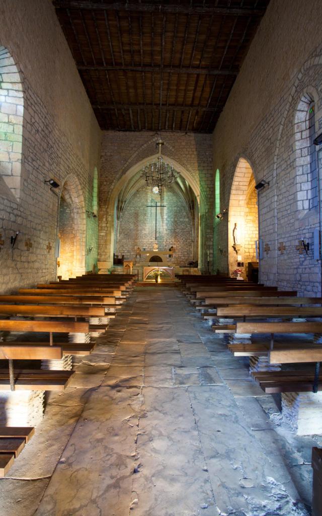 Intérieur de l'église de Carlux