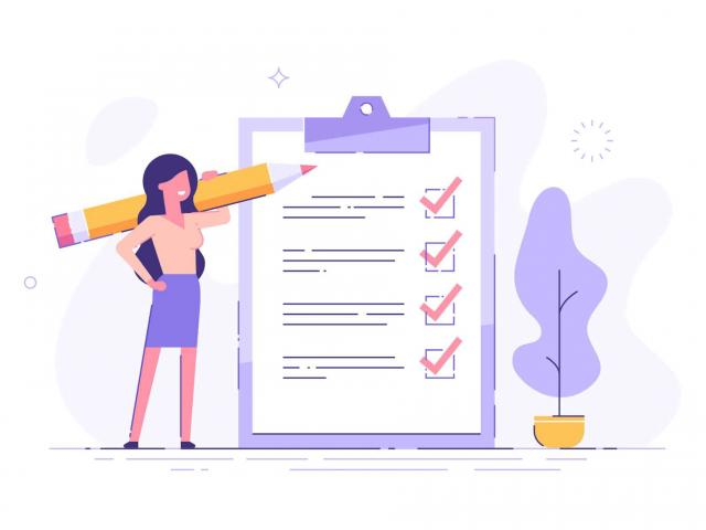 Checklist des choses à faire