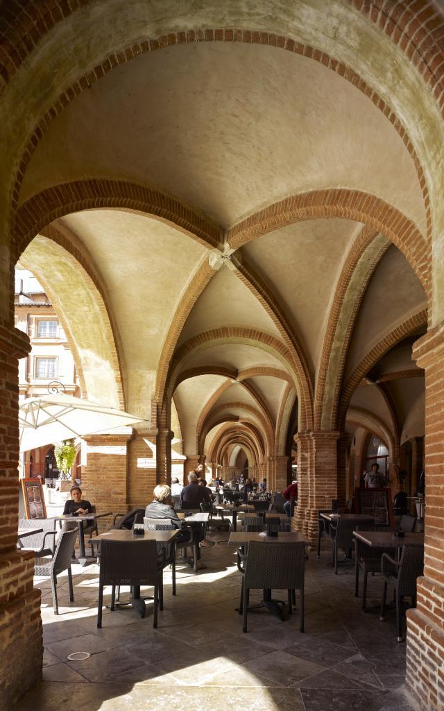 Les arcades de la Place Nationale