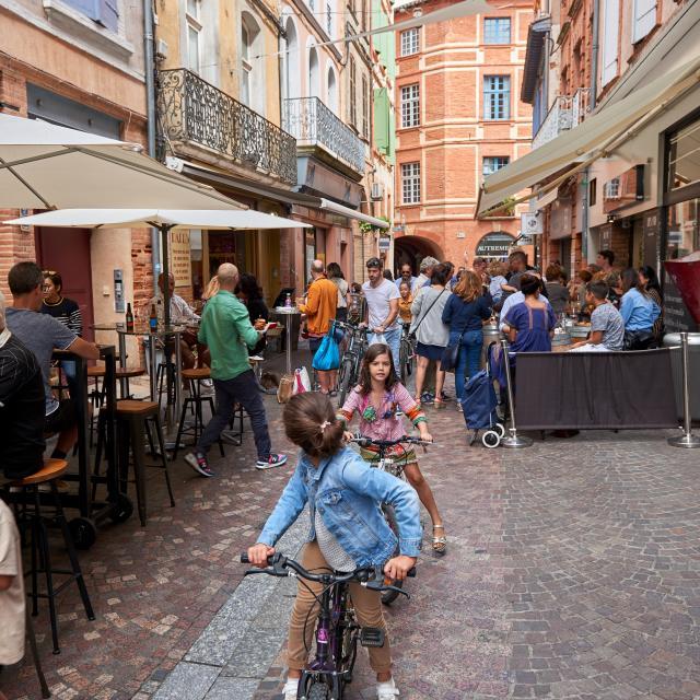 Rue du Greffe à vélo