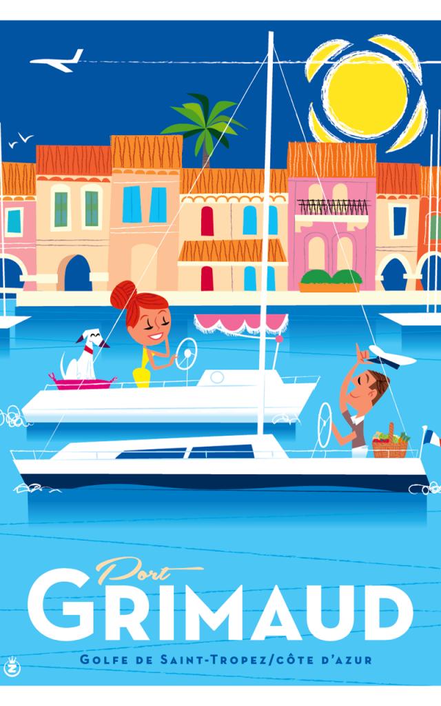 Affiche Grimaud Port Grimaud (2)