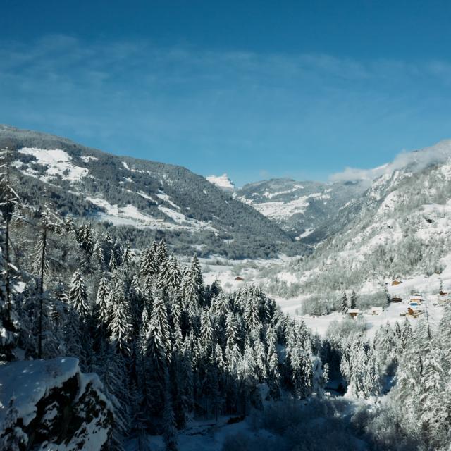Haut Val de Bagnes sous la neige