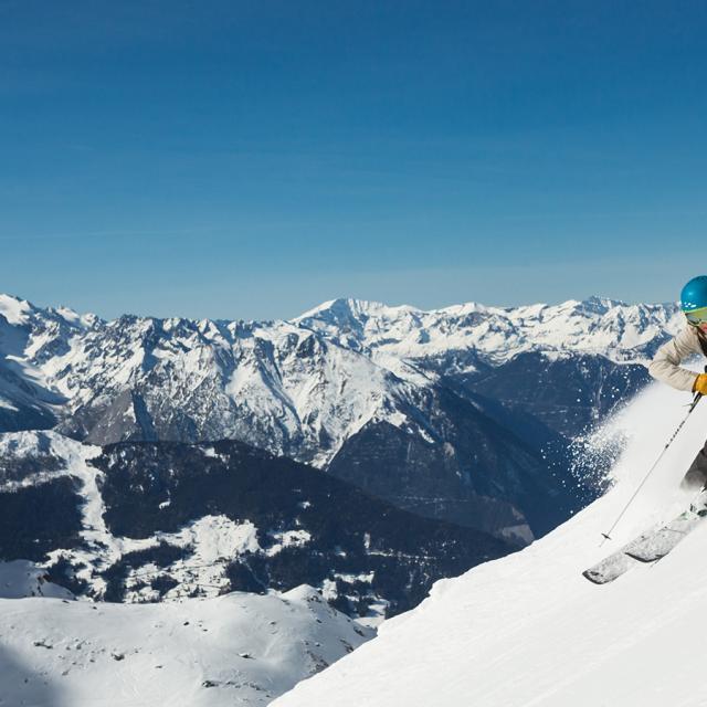 Skieur à Verbier 4 Vallées