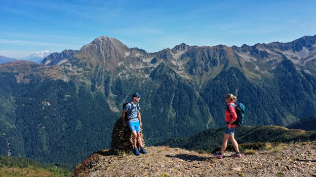 Balade en montagne au Collet avec vue sur le Montblanc
