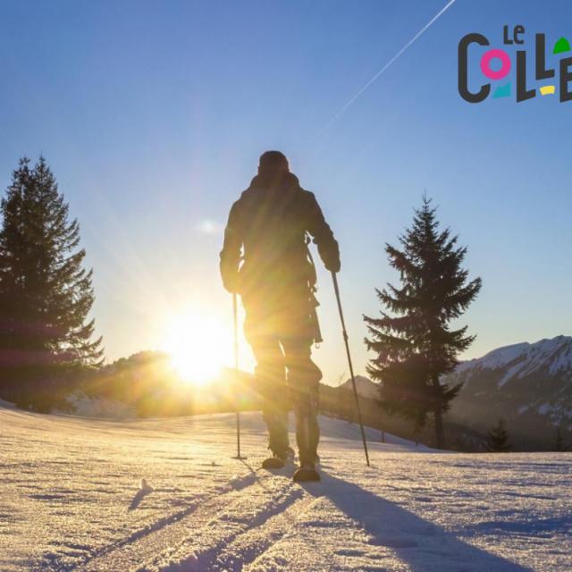 L'activité ski de randonnée au Collet pendant les vacances de février