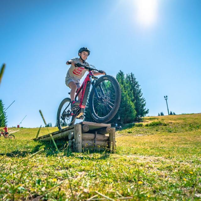 Vélo électrique au Collet d'Allevard en été