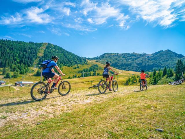 Balade en vélo au Collet d'Allevard