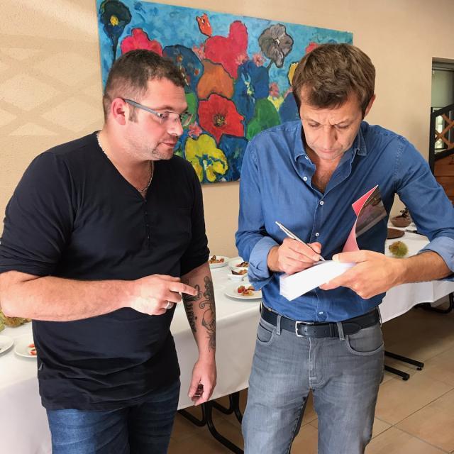 Laurent Mariotte et notre chef Simon