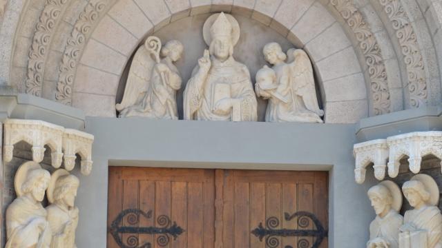 Détail - porte église Mers-les-Bains