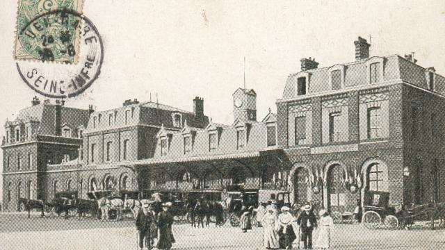 La Gare du Tréport 1872 environ