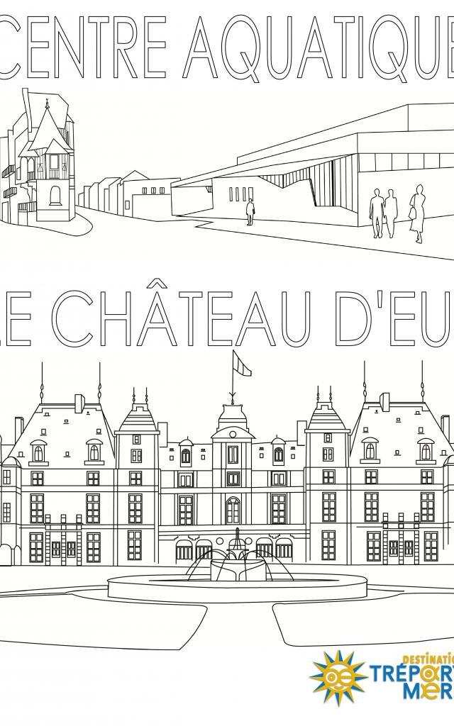 Centre Aquatique Et Chateau De Eu Coloriage