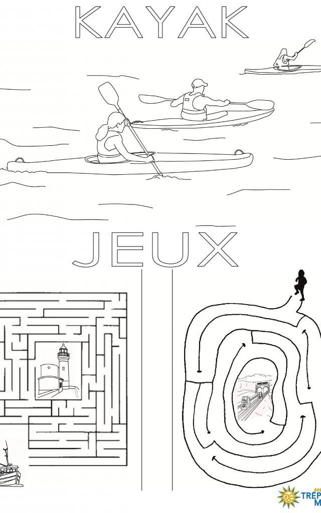 Kayak Et Jeux Coloriage