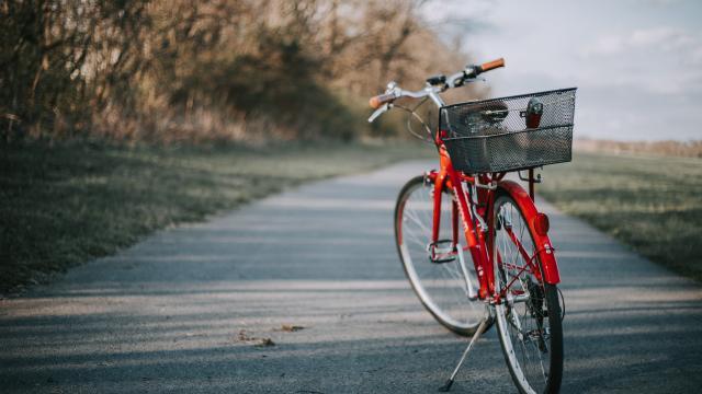 Vélo sur chemin