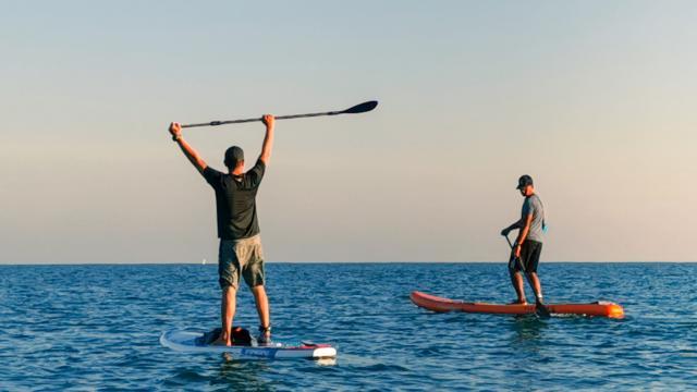 Paddle en mer