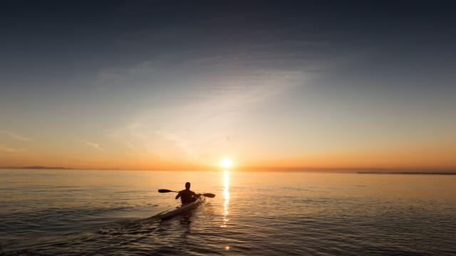 Kayak en mer