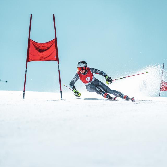 Ski compétition sur le glacier des 2 Alpes l'été
