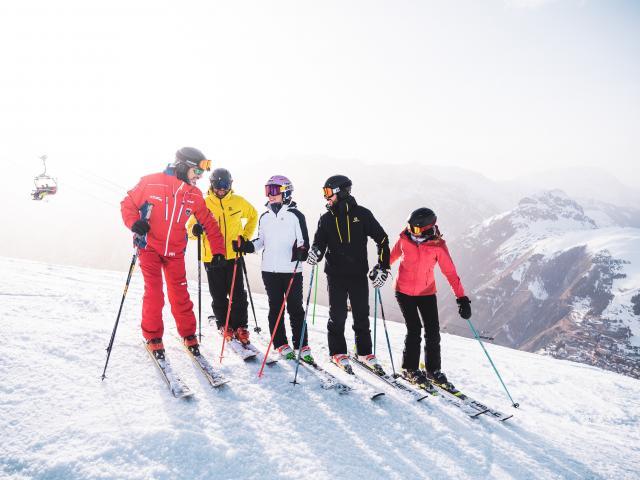Ski encadré par un moniteur aux Deux-Alpes