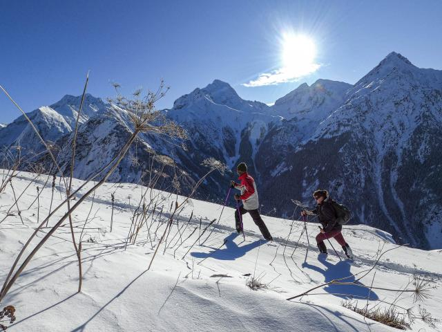 Vue sur la muselle depuis les abords en montagne des Deux-Alpes