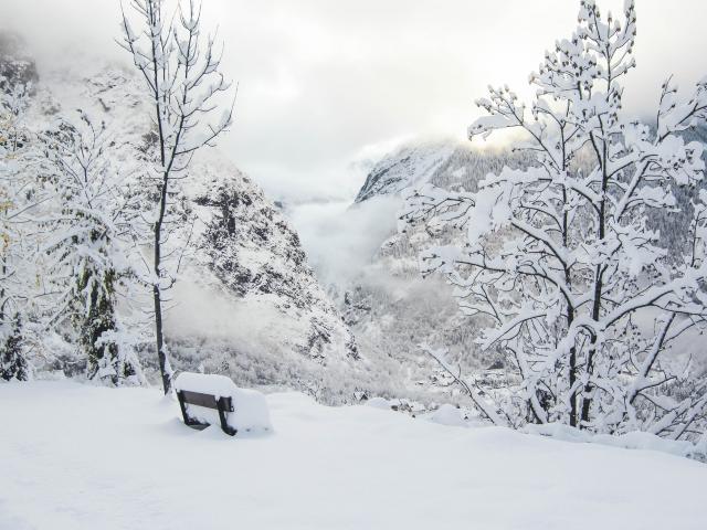 Bon enneigées sur la commune de Venosc municipalité des Deux-Alpes