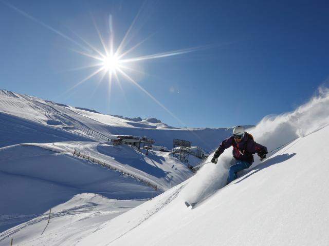 snowboarski poudreuse les deux alpes