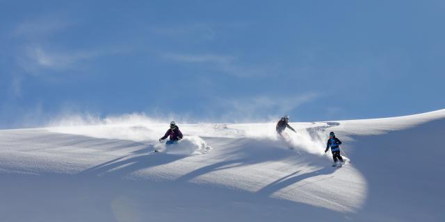 ski amis poudreuse les deux alpes