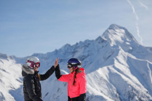 Ski amis aux Deux-Alpes