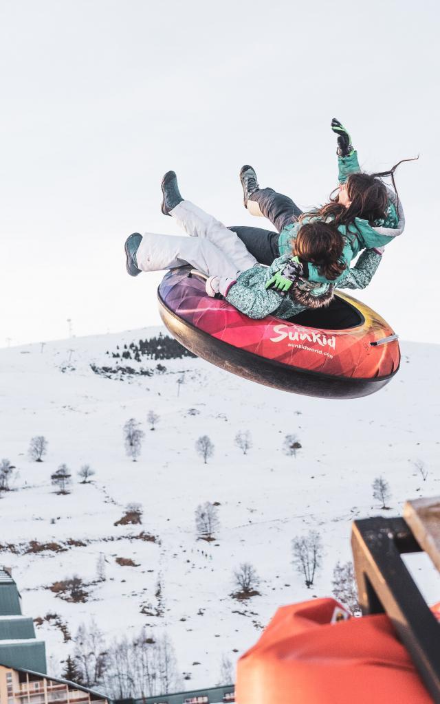 Ensemble Famille Luge Enfants Activites Insolites Station Les Deux Alpes