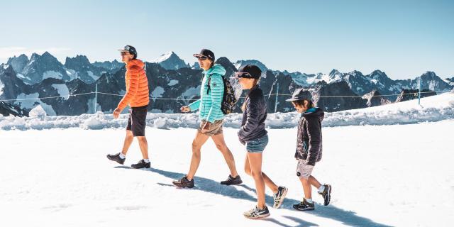 piétons été glacier famille les 2 alpes