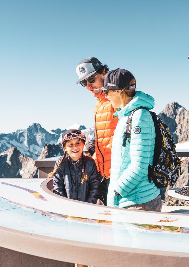 point de vue glacier été famille