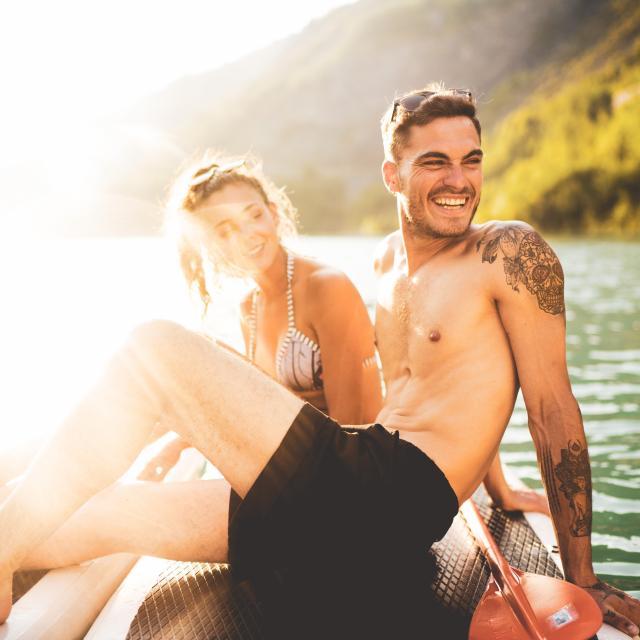 Couple Lac Paddle été
