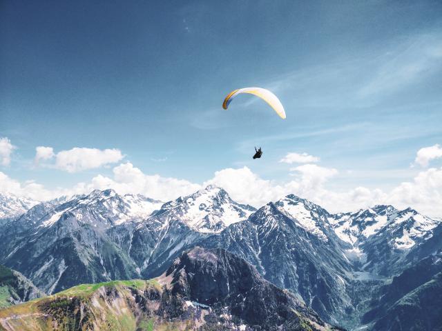 Faire Du Parapente à La Montagne Station Les 2 Alpes