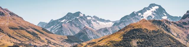 Panorama Été Vue Les2alpes Muzelle Neige