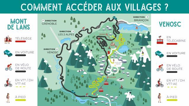 Villages Acces Ete 2alpes Plan