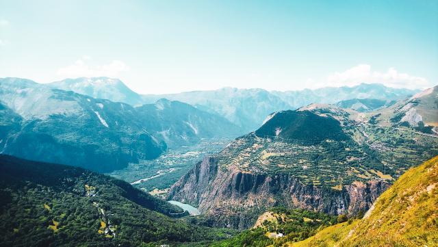 Vue Sur La Vallée De L'oisans Depuis Les 2 Alpes