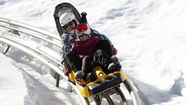Le Pleynet / Les 7 Laux : from 3 to 77 years old, we have fun on board the Wiz Luge