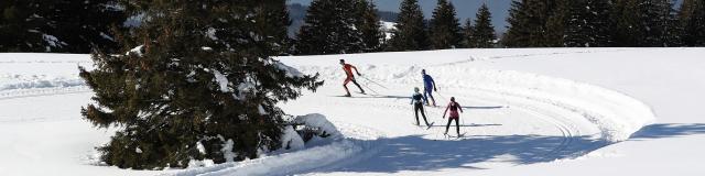 Prapoutel / Les 7 Laux : le domaine nordique de Beldina offre un magnifique panorama pour les amateurs de ski de fond